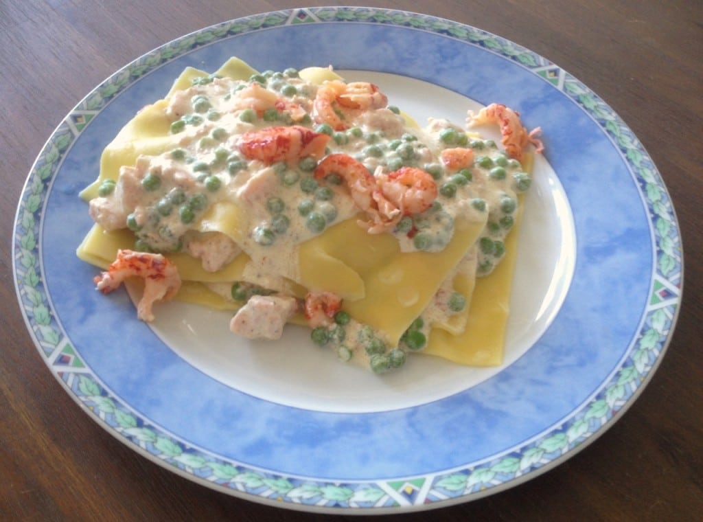Foodblogswap: open lasagne met zalm en rivierkreeftjes