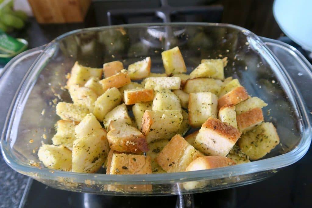 zelf croutons bakken