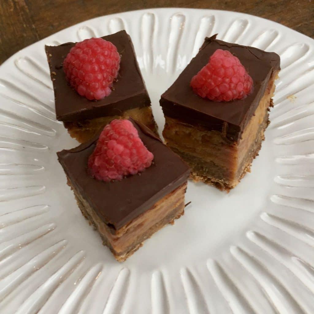 chocolade-karamel plaatkoek