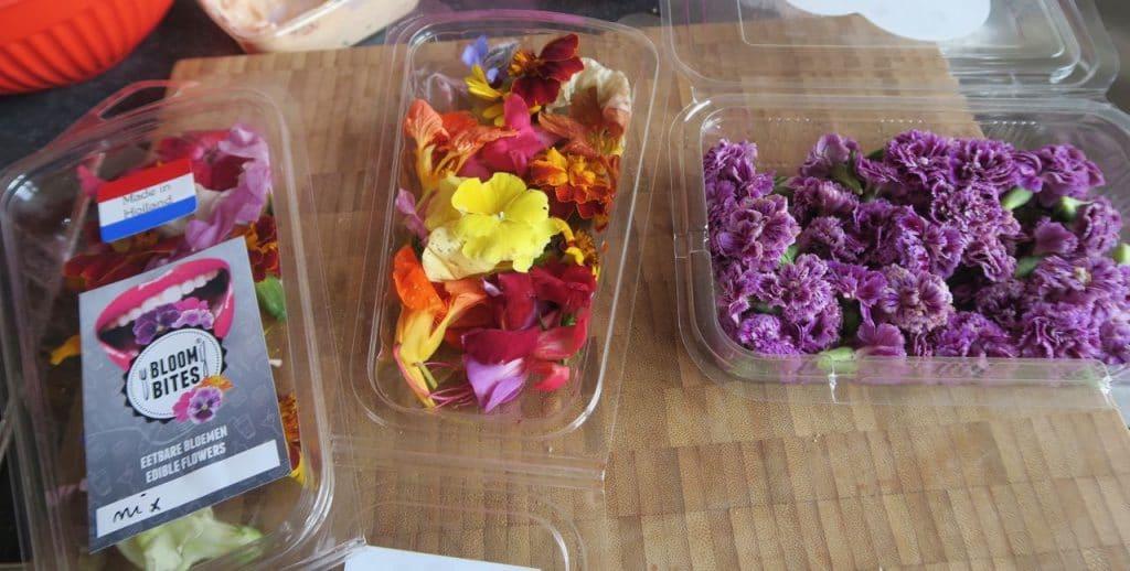 21-diner eetbare bloemen