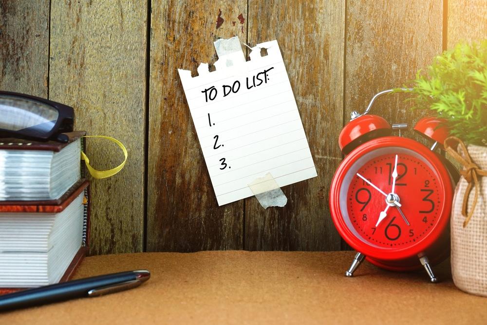 tips om efficient te werken lijstjes