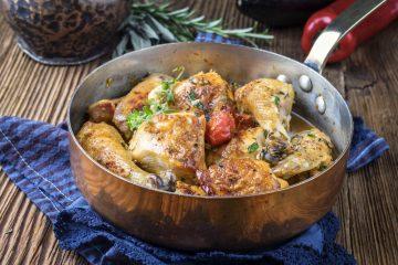 Kip uit de oven met citroen en salie