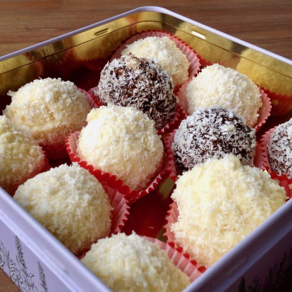 Raffaelo bonbons - homemade kerstcadeaus