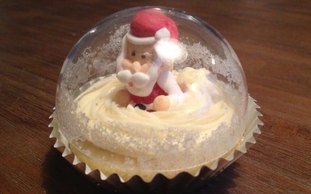 Sneeuwbol cupcakes