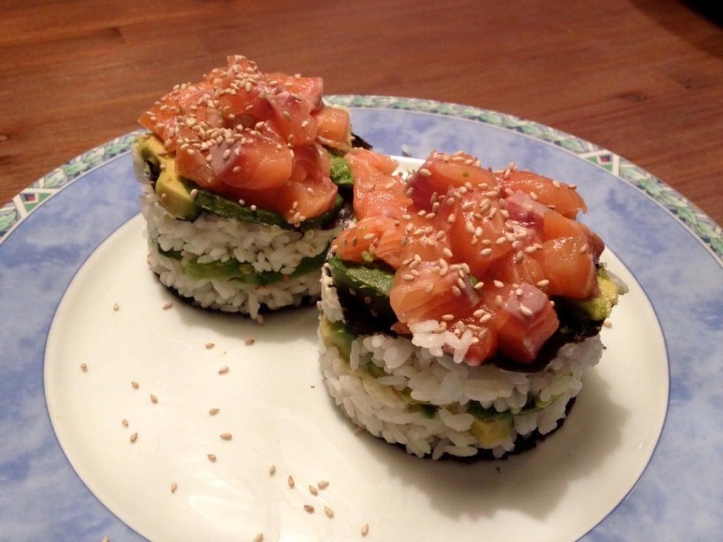 sushi taartje