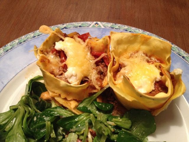 mini lasagna's met sla