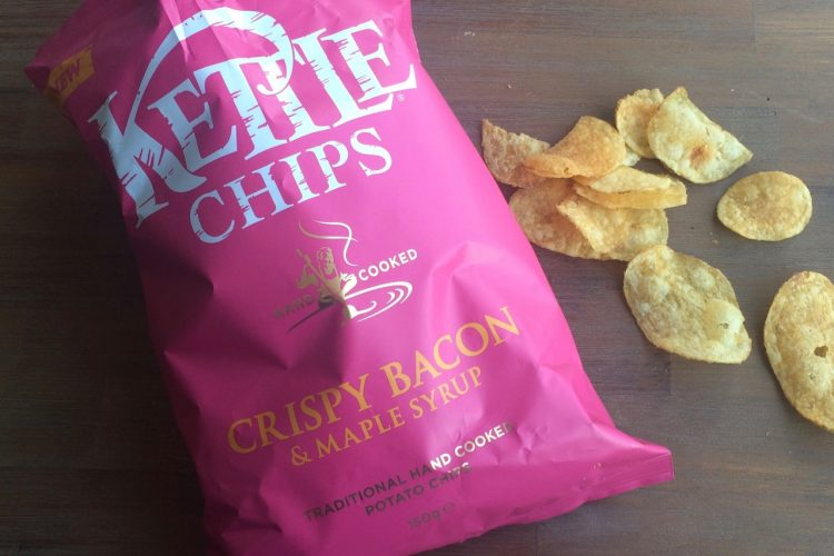 Kettle chips crispy bacon & maple syrup