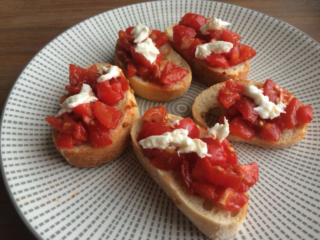 tommies de basis voor bruschetta
