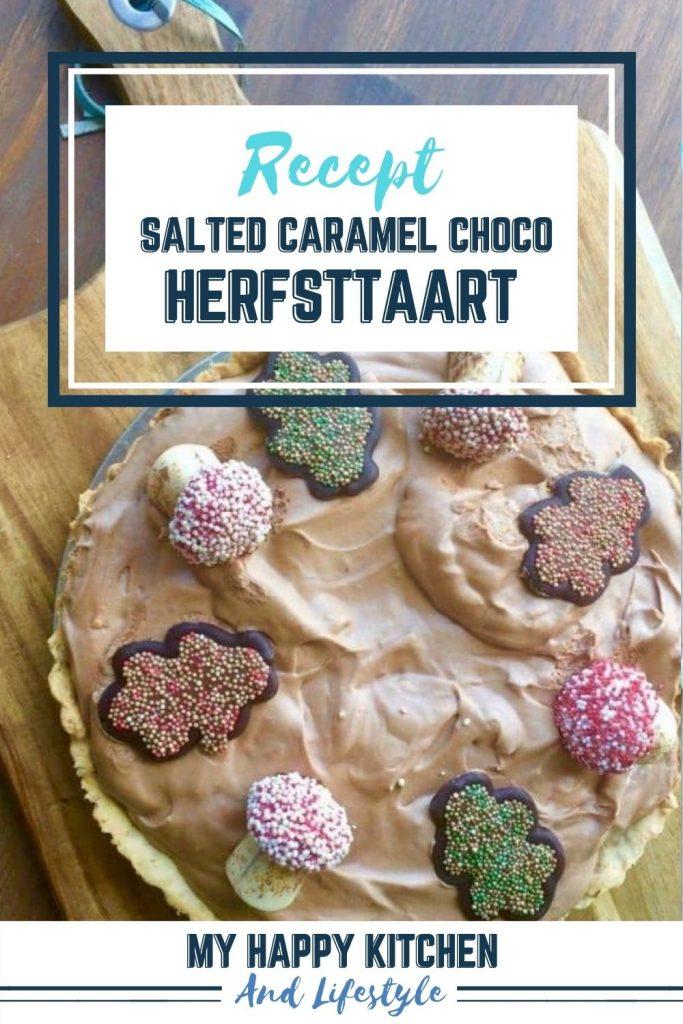Pinterest pin chocolade herfsttaart