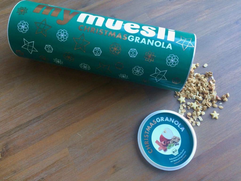 My muesli christmas granola