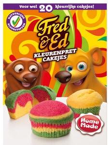 Fred & Ed kleurenpret cakejes