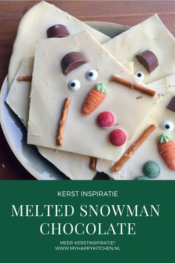 melted snowman chocolate