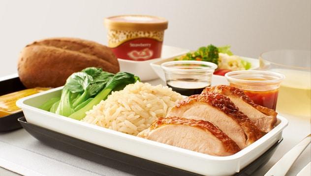 Eten in het vliegtuig: singapore airlines
