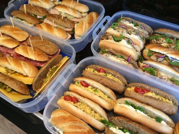 Broodjes gesorteerd