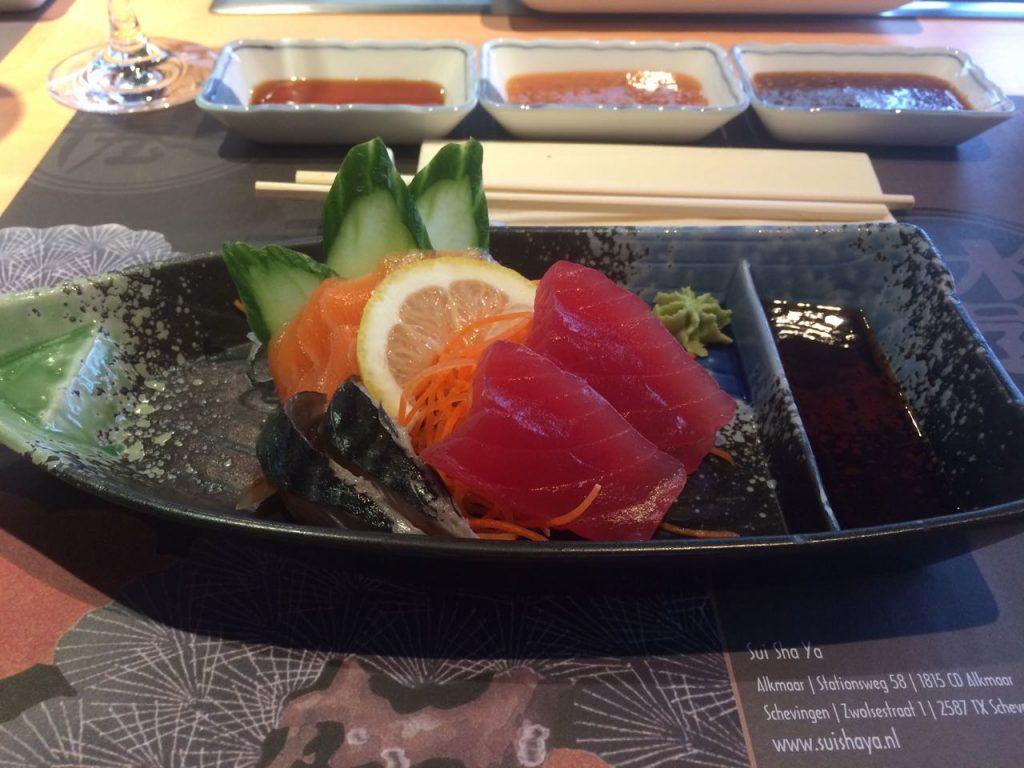 sashimi bij Sui Sha Ya
