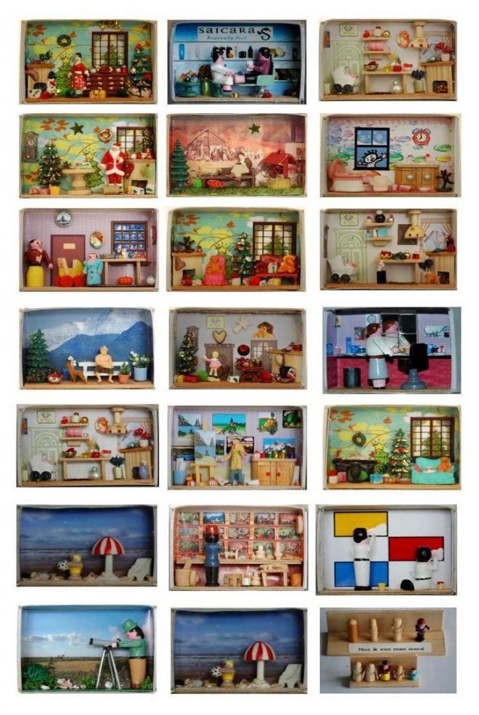 Miniaturen in luciferdoosjes