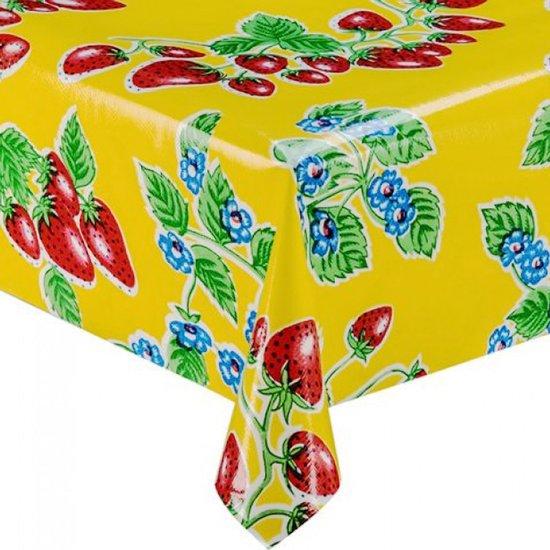 alles met en over aardbeien: tafelzeil