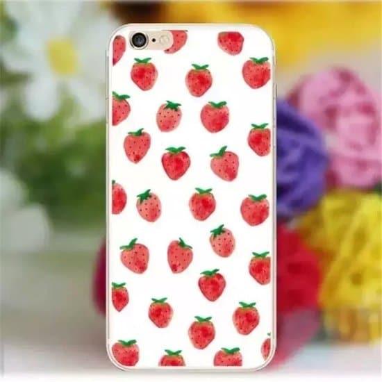 alles met en over aardbeien: telefoonhoedje