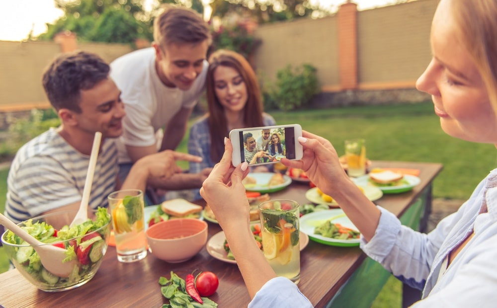 Vakantiegevoel vasthouden - buiten eten
