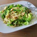 Caesar pastasalade met zelfgebakken croutons