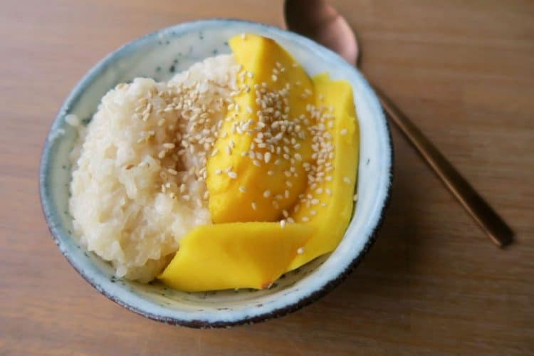 Thaise sticky rice mango