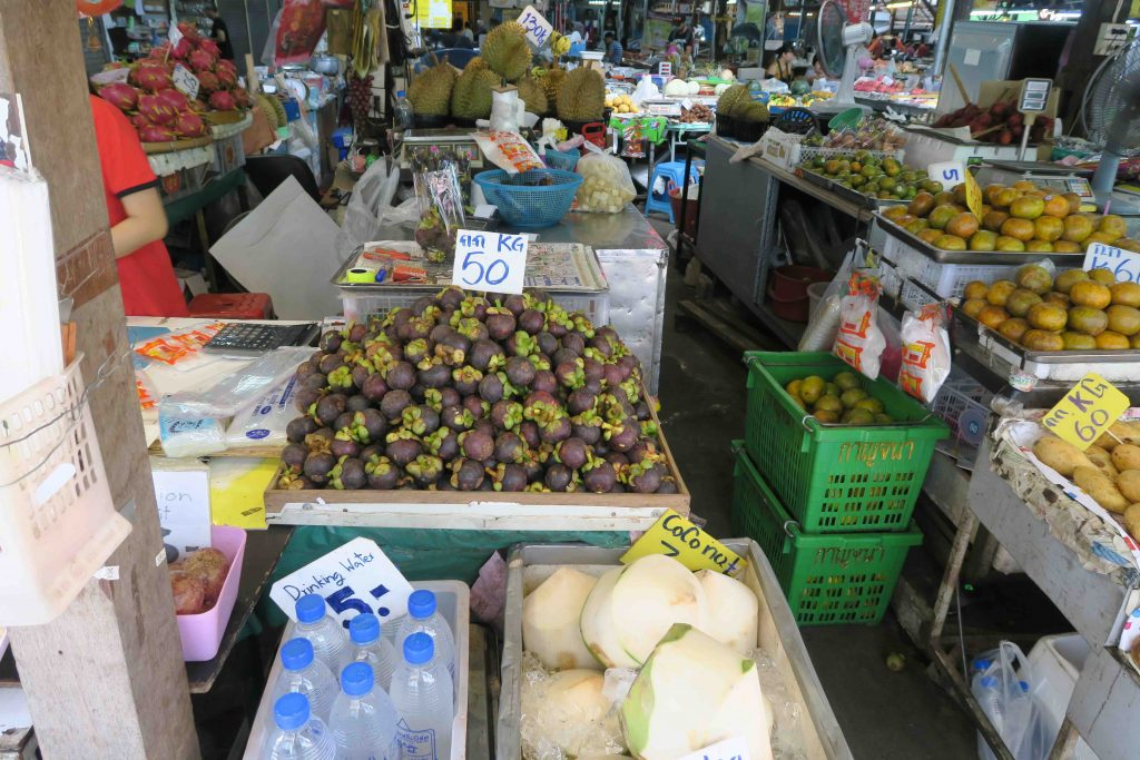 Thaise keuken: mangosteen markt