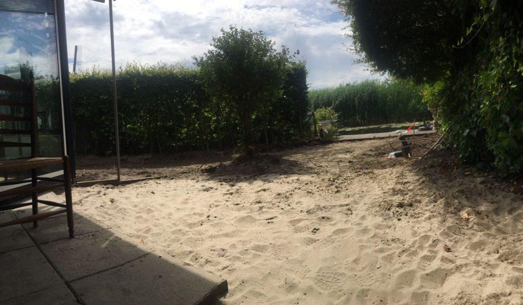 tuin zonder gras