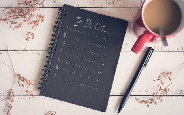 tips om effcient te werken - to do list