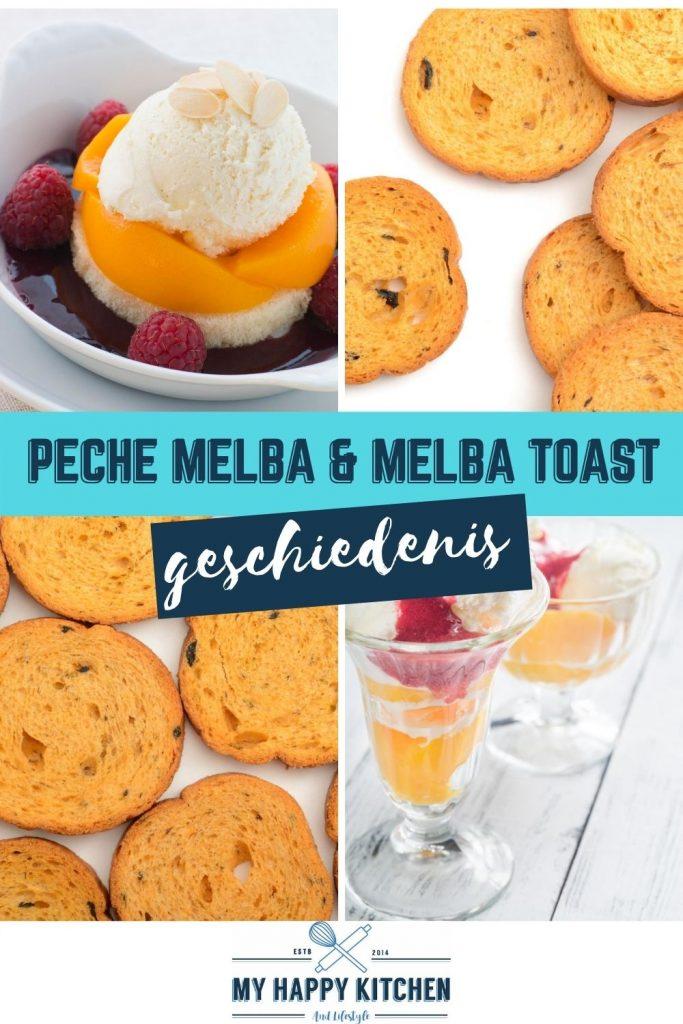 Pinterest pin peche melba & melba toast