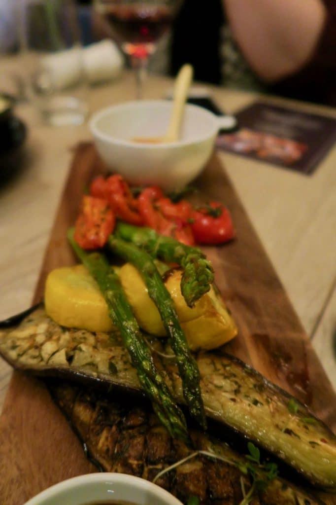 Restaurant Pearl - gegrilde groente