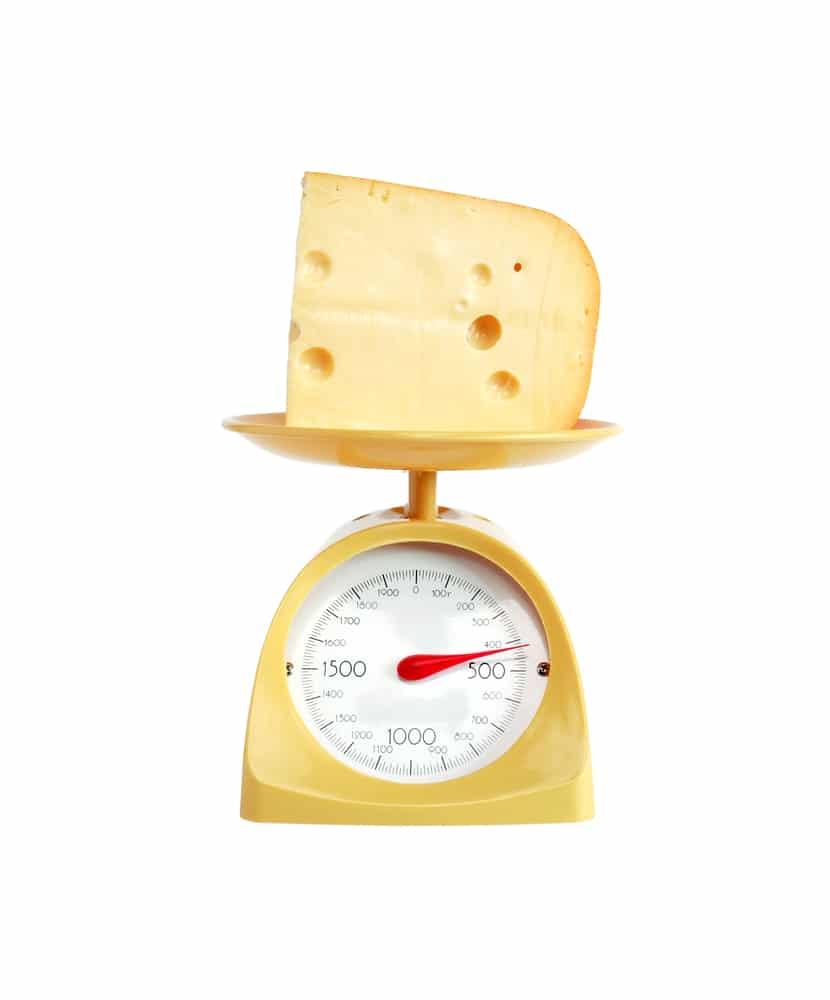 Gewicht in kaas