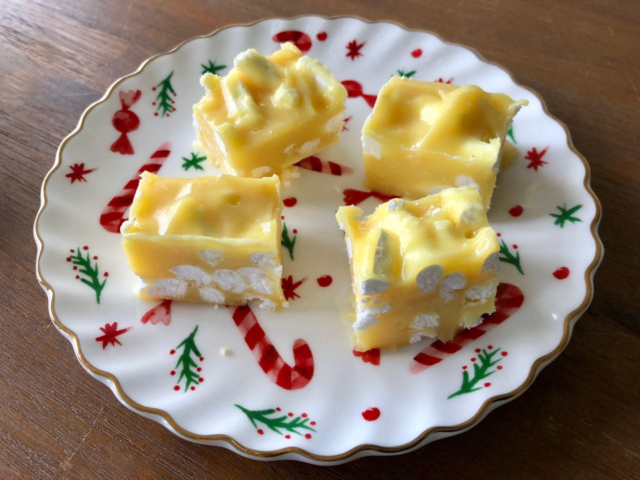 lemon meringue fudge