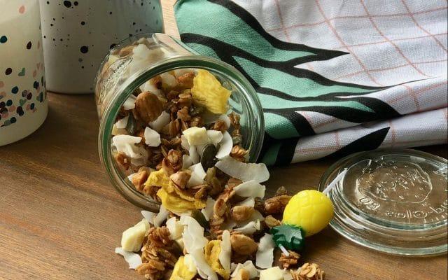Voedsel drogen in de droogoven: zomerse granola