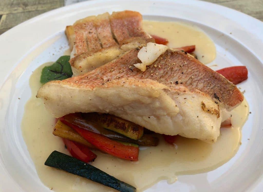 restaurant la Salle - roodbaars