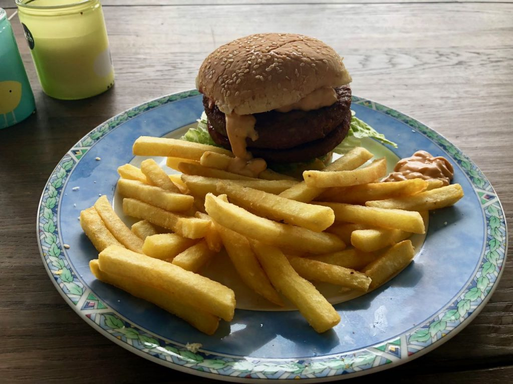 youtube vegan challenge hamburger