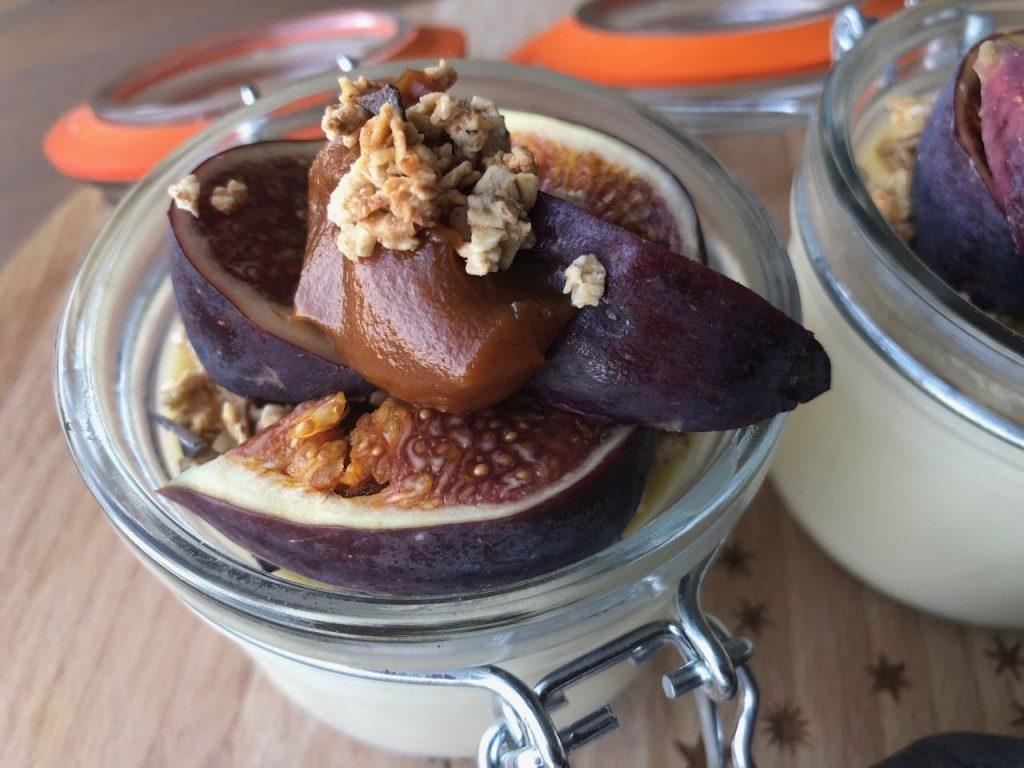 pannacotta met vijgen en salted caramel