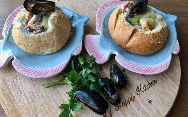Clam chowder met Zeeuwse mosselen