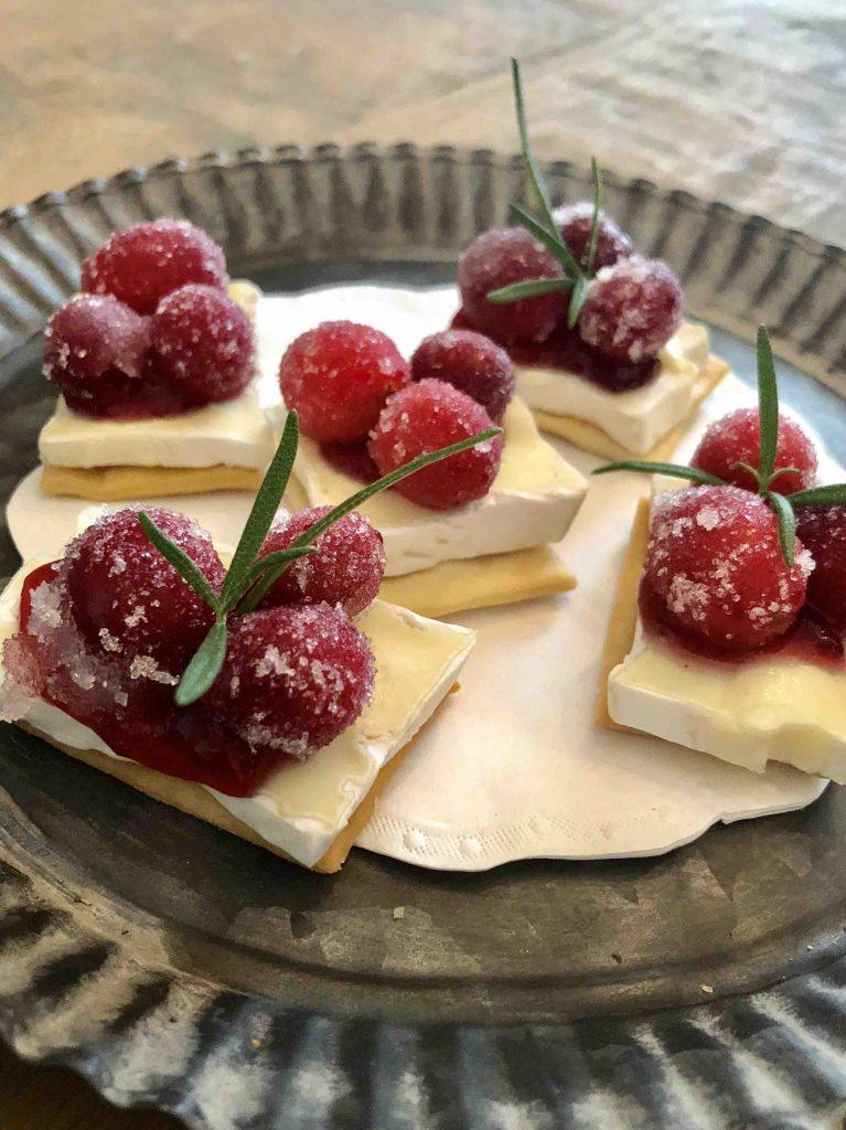 kerstborrel - gesuikerde cranberries
