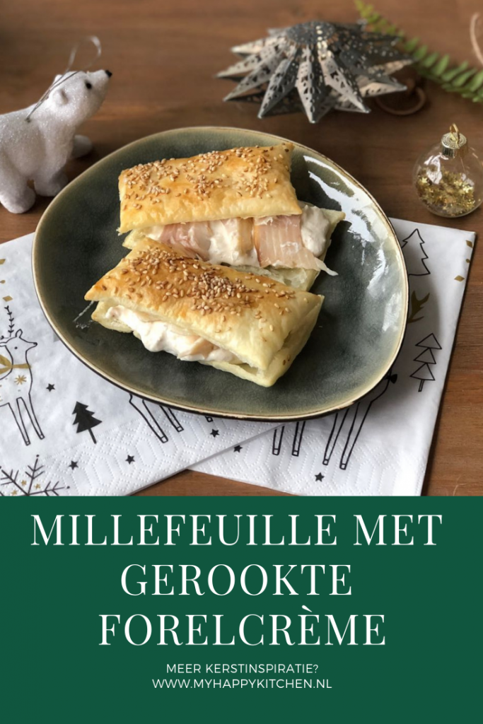 millefeuille met gerookte forelcrème