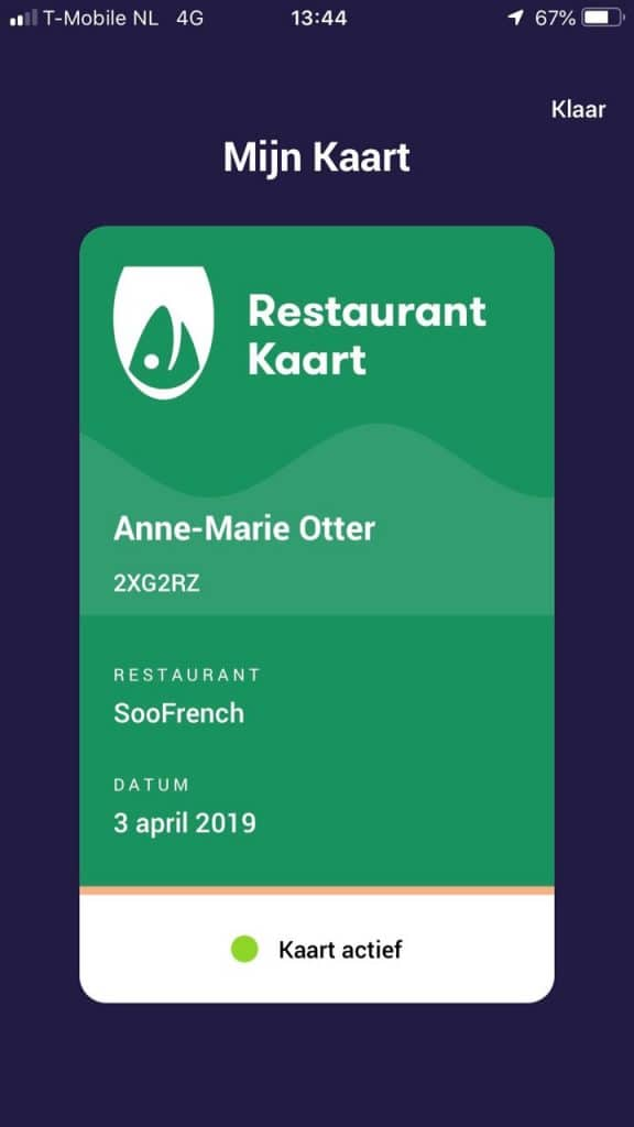 RestaurantKaart Restaurant Den Haag uit eten