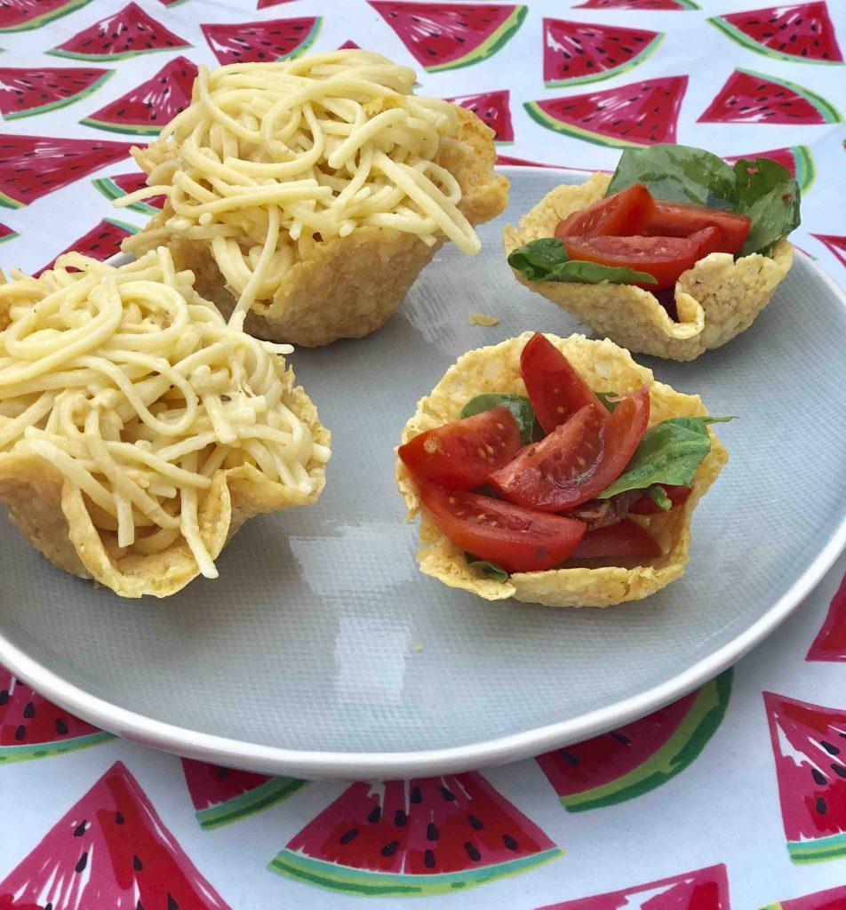 Bakjes van Parmezaanse kaas