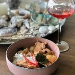 Panang curry met varkenshaas en lychees