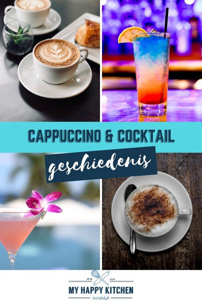 Geschiedenis cappuccino en cocktail