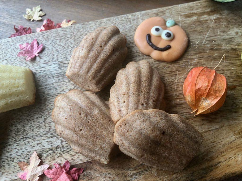 Pumkin spice madeleines