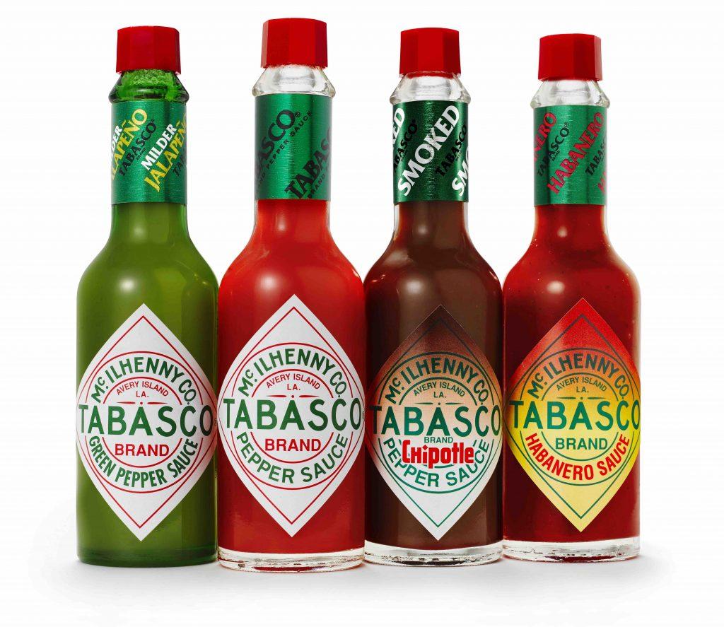 Peper. zout en Tabasco