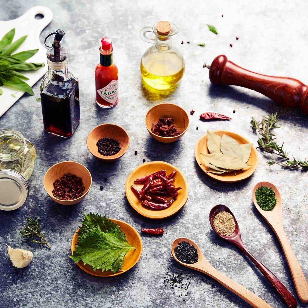 peper, zout en tabasco