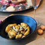 Pompoengnocchi met paddenstoelen
