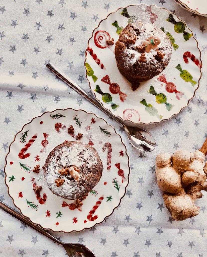 Gingerbread lavacake