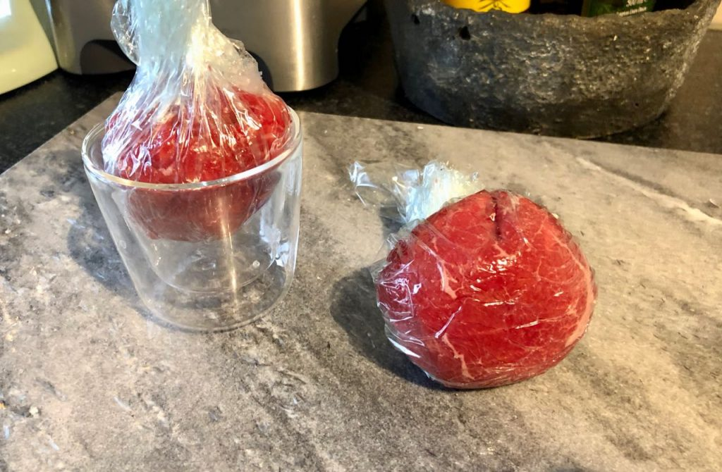 Carpaccio bonbon maken