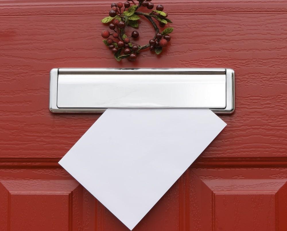 erstkaart in de brievenbus